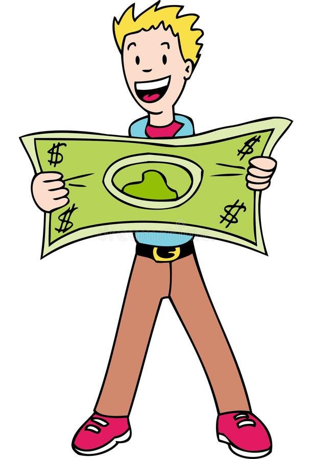 δολάριο που κάνει το τέντωμά σας διανυσματική απεικόνιση