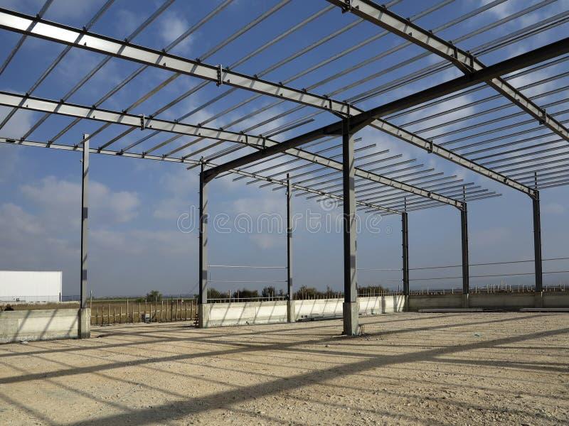 Δομές χάλυβα του βιομηχανικού κτηρίου στοκ φωτογραφία