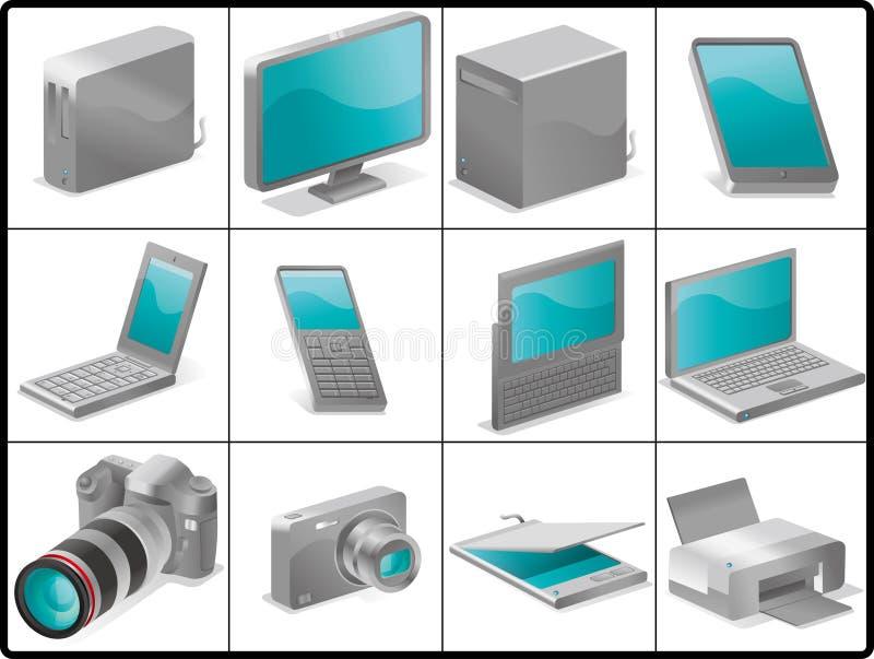 Download δομή εικονιδίων συσκε&upsilon Απεικόνιση αποθεμάτων - εικονογραφία από ψηφιακός, camera: 17054542