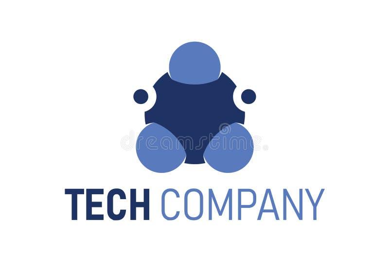 Αφηρημένο πρότυπο λογότυπων τεχνολογίας, σφαίρα, διανυσματικό εικονίδιο σφαιρών Δομή μορίων, λογότυπο ρομποτικής ή πρότυπο σημάδι ελεύθερη απεικόνιση δικαιώματος