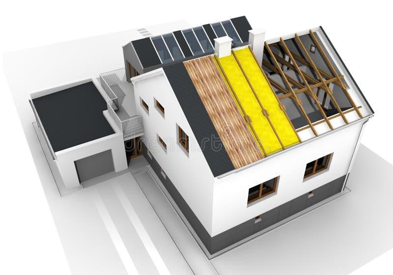 Δομή σπιτιών απεικόνιση αποθεμάτων