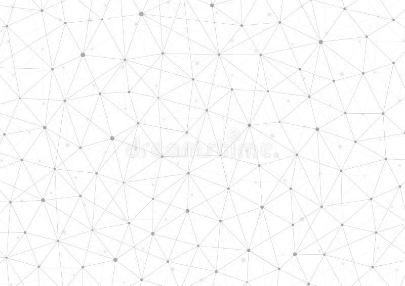Δομή σύνδεσης Μόριο του DNA και των νευρώνων αφηρημένη ανασκόπηση Ιατρική, τεχνολογία επιστήμης διάνυσμα διανυσματική απεικόνιση