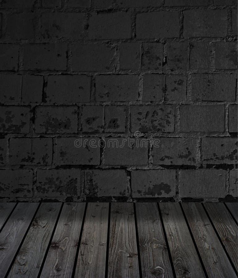 Δομικό τοίχωμα με σκούρο πέτρινο τοίχο στοκ φωτογραφίες