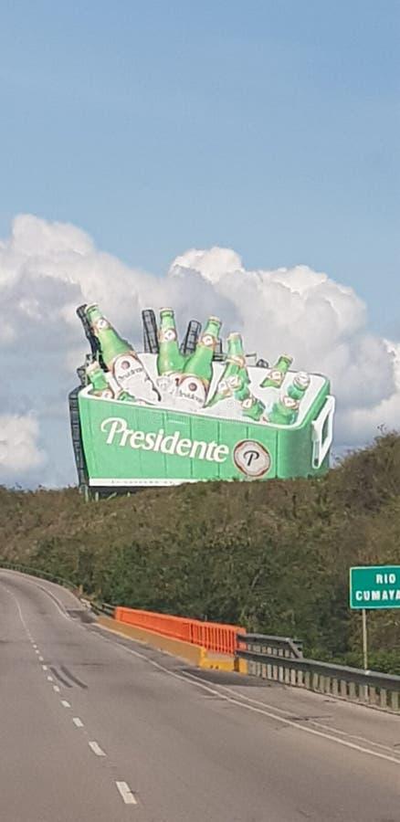 Δομινικανή Δημοκρατία εθνικών οδών σημαδιών Presidente στοκ φωτογραφία