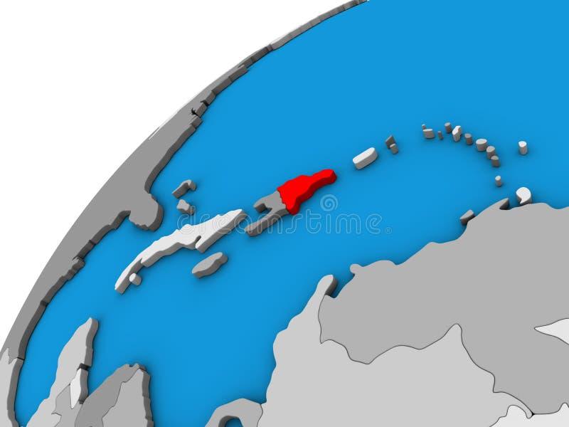 Δομινικανή Δημοκρατία στην τρισδιάστατη σφαίρα διανυσματική απεικόνιση
