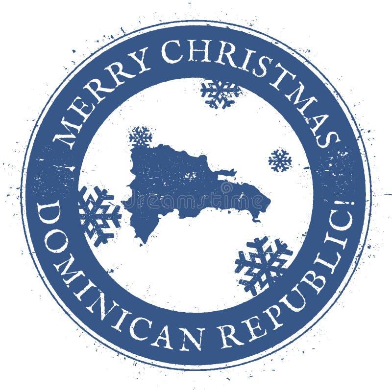 δομινικανή δημοκρατία χα&rho Εκλεκτής ποιότητας Χαρούμενα Χριστούγεννα απεικόνιση αποθεμάτων