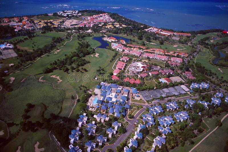 Δομινικανή Δημοκρατία: Airshot από το γήπεδο του γκολφ Puerto Plata και στοκ εικόνες με δικαίωμα ελεύθερης χρήσης