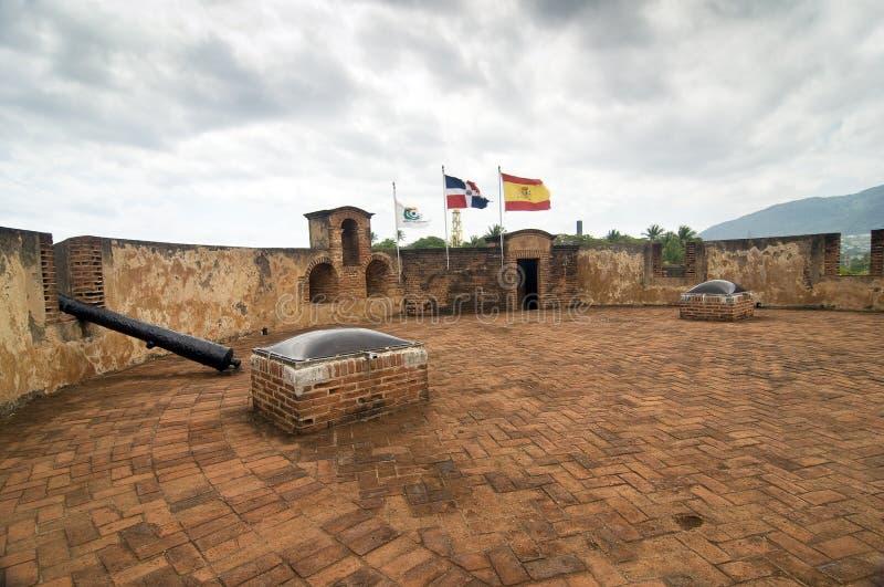 δομινικανή ιστορική δημοκρατία φρουρίων στοκ εικόνα με δικαίωμα ελεύθερης χρήσης