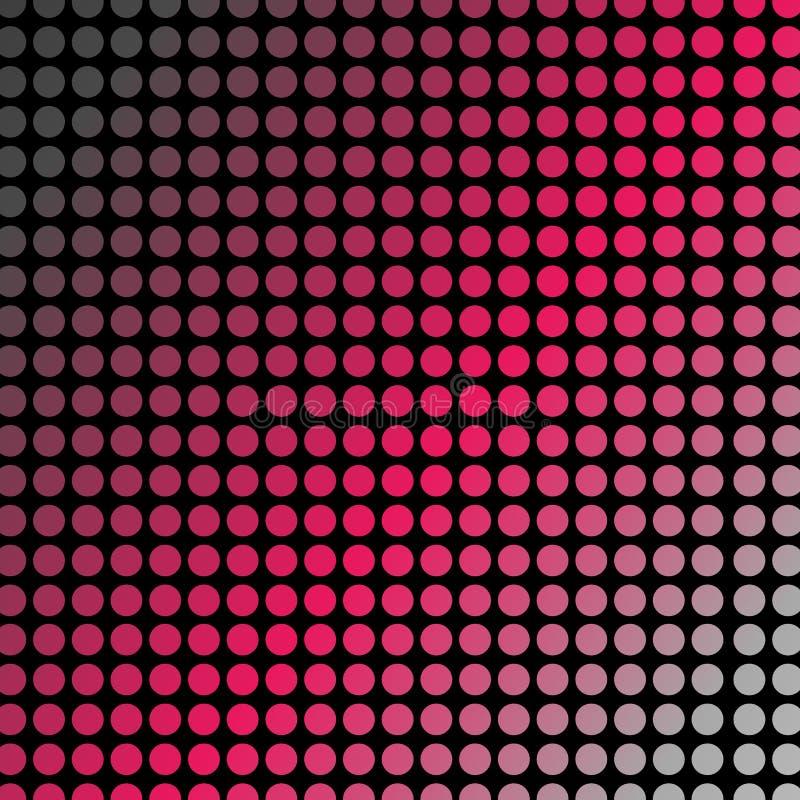 Δονούμενα ρόδινα σημεία Πόλκα ή ημίτονο σχέδιο ελεύθερη απεικόνιση δικαιώματος