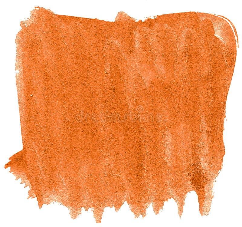 Δονούμενο πορτοκαλί αφηρημένο υπόβαθρο watercolor, λεκές, χρώμα παφλασμών, λεκές, διαζύγιο Εκλεκτής ποιότητας έργα ζωγραφικής για ελεύθερη απεικόνιση δικαιώματος