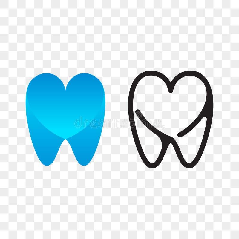 Δοντιών οδοντικό εικονίδιο στοματολογίας οδοντιάτρων λογότυπων διανυσματικό διανυσματική απεικόνιση