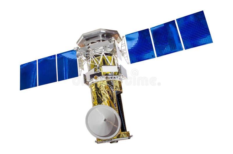 Δορυφορικά ηλιακά πλαίσια για τον ήχο της γης, που απομονώνονται στο άσπρο υπόβαθρο στοκ φωτογραφία
