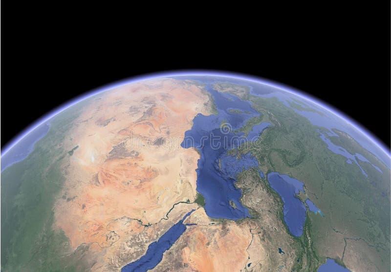 Δορυφορική εικόνα της γης διανυσματική απεικόνιση