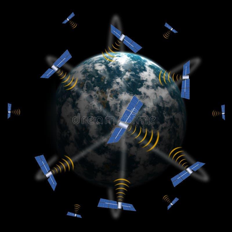 δορυφορικό διάστημα ελεύθερη απεικόνιση δικαιώματος