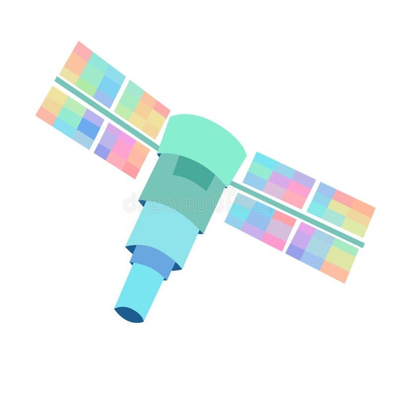 Δορυφορικό διανυσματικό ύφος κινούμενων σχεδίων απεικόνισης ΠΣΤ διανυσματική απεικόνιση