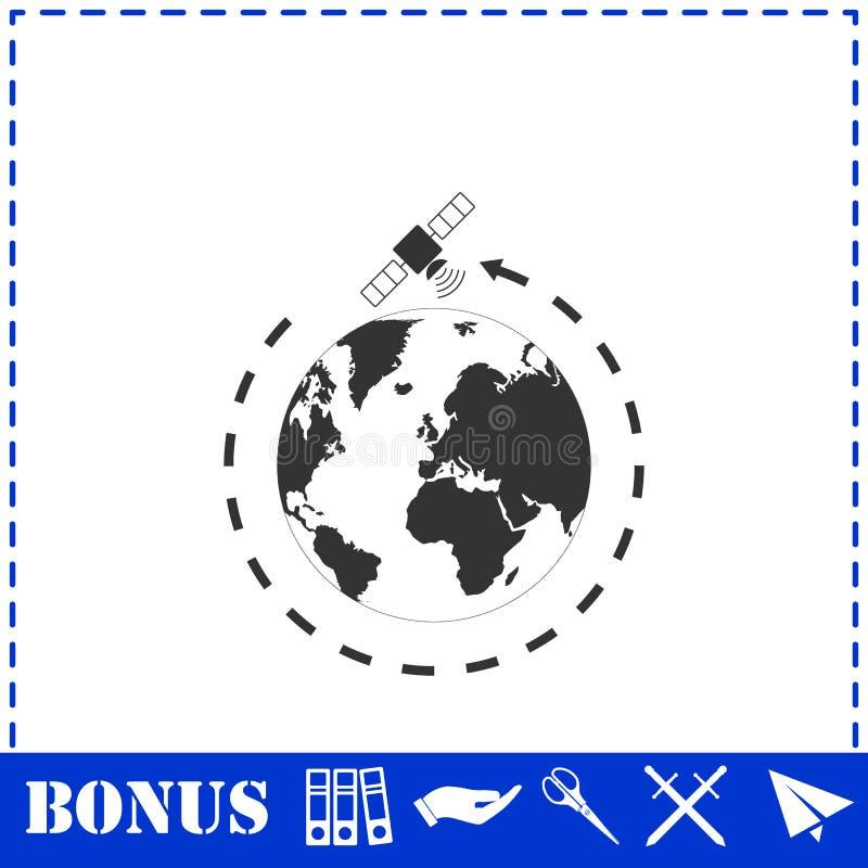 Δορυφορικό εικονίδιο επίπεδο απεικόνιση αποθεμάτων