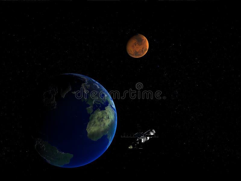 δορυφόρος γήινων φεγγαρ& διανυσματική απεικόνιση