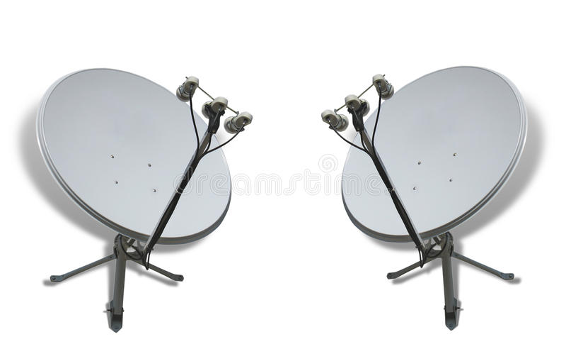 δορυφόρος δύο έννοιας επ στοκ φωτογραφία με δικαίωμα ελεύθερης χρήσης