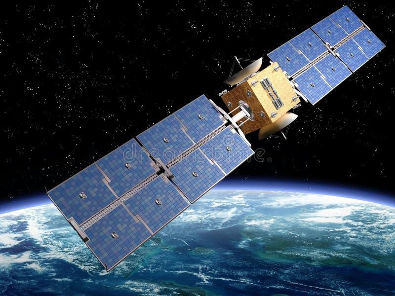 δορυφόρος επικοινωνία&sigmaf διανυσματική απεικόνιση