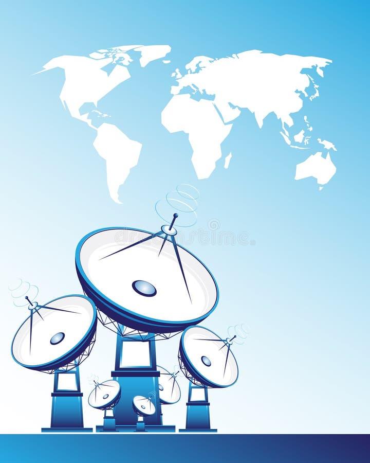 δορυφόρος πιάτων απεικόνιση αποθεμάτων