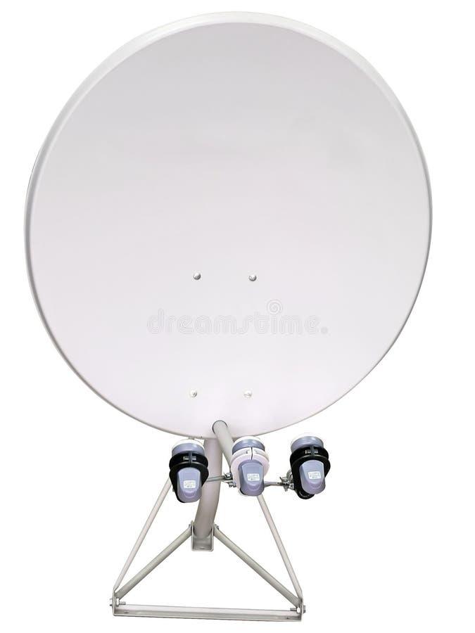 Download δορυφόρος πιάτων στοκ εικόνα. εικόνα από κεφάλια, απομονωμένος - 1540699