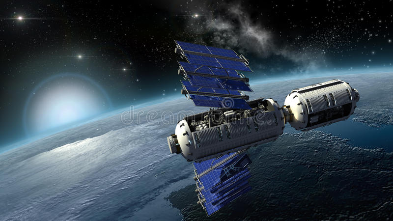 Δορυφόρος, spacelab ή γη έρευνας διαστημικών σκαφών στοκ φωτογραφία με δικαίωμα ελεύθερης χρήσης
