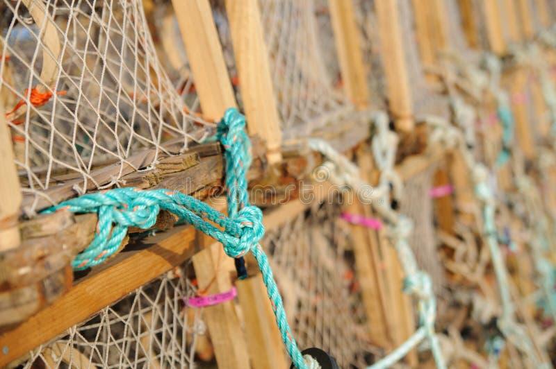 Δοχεία ή κλουβιά αστακών στοκ φωτογραφία