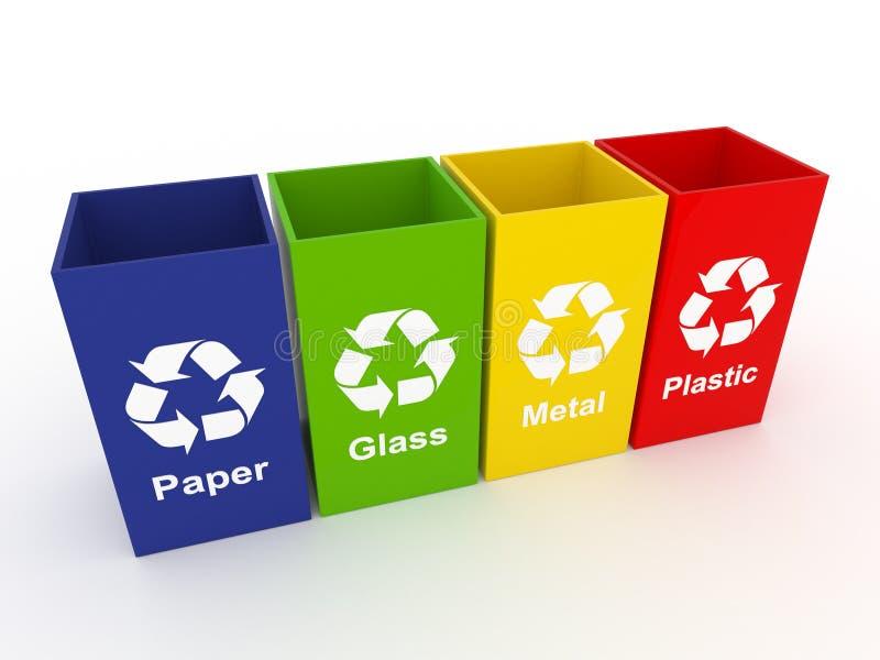 δοχεία ανακύκλωσης ελεύθερη απεικόνιση δικαιώματος