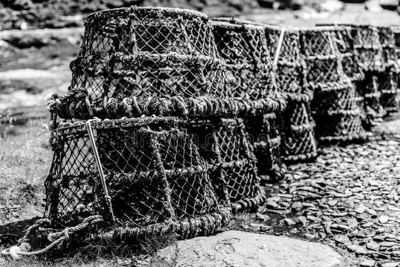 Δοχεία αστακών σε Boscastle στοκ εικόνες με δικαίωμα ελεύθερης χρήσης