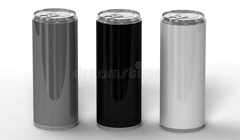 Δοχεία ενεργειακών ποτών απεικόνιση αποθεμάτων