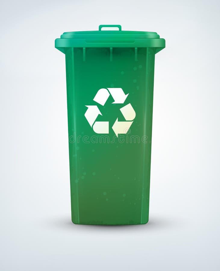 δοχείο ανακύκλωσης διανυσματική απεικόνιση