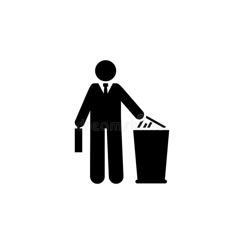 Δοχείο απορριμμάτων, λογαριασμός, εικονίδιο επιχειρηματιών Στοιχείο του εικονιδίου επιχειρηματιών r o απεικόνιση αποθεμάτων