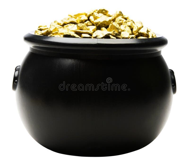 Δοχείο των χρυσών ψηγμάτων στοκ φωτογραφία με δικαίωμα ελεύθερης χρήσης