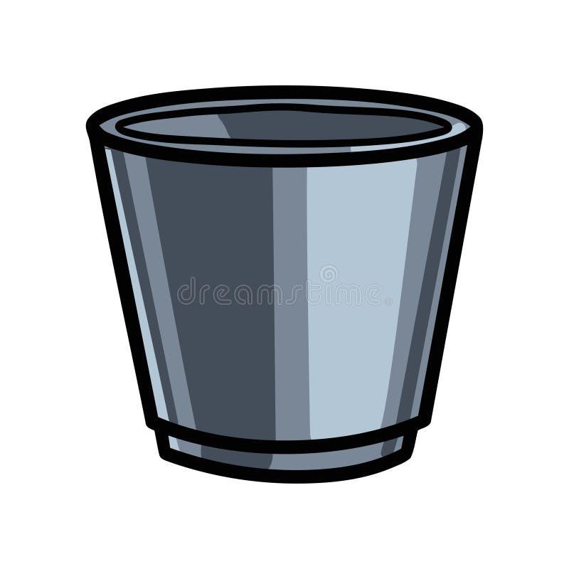 Δοχείο χάλυβα μετάλλων μπάρμαν για τον κύβο πάγου για τα ποτά απεικόνιση αποθεμάτων