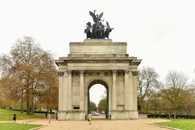 Δούκας της αναμνηστικής αψίδας του Ουέλλινγκτον, Λονδίνο στοκ φωτογραφία με δικαίωμα ελεύθερης χρήσης