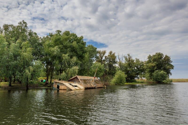 Δούναβης του δέλτα Ρουμ&a στοκ εικόνες
