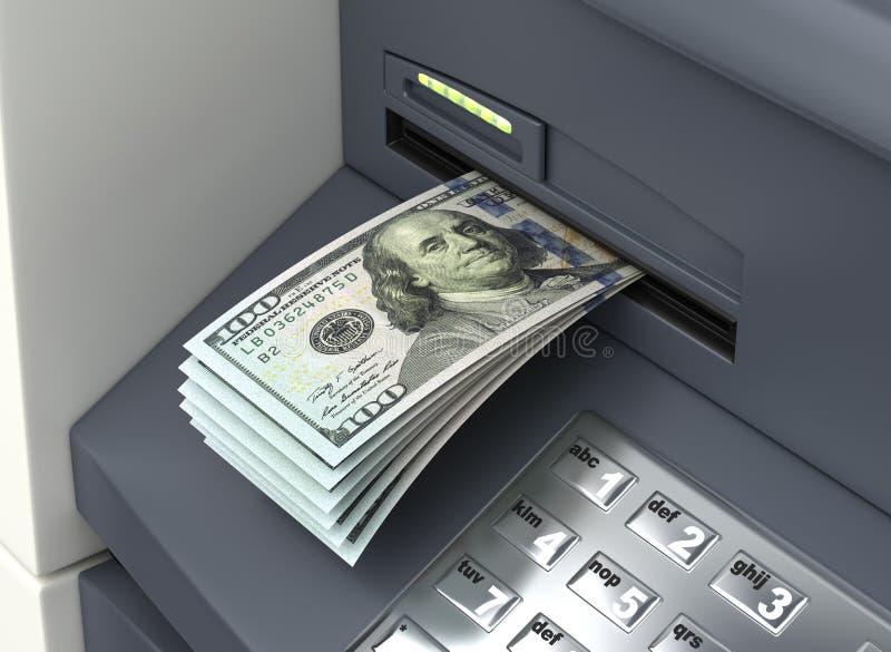 Δολάρια από το ATM διανυσματική απεικόνιση
