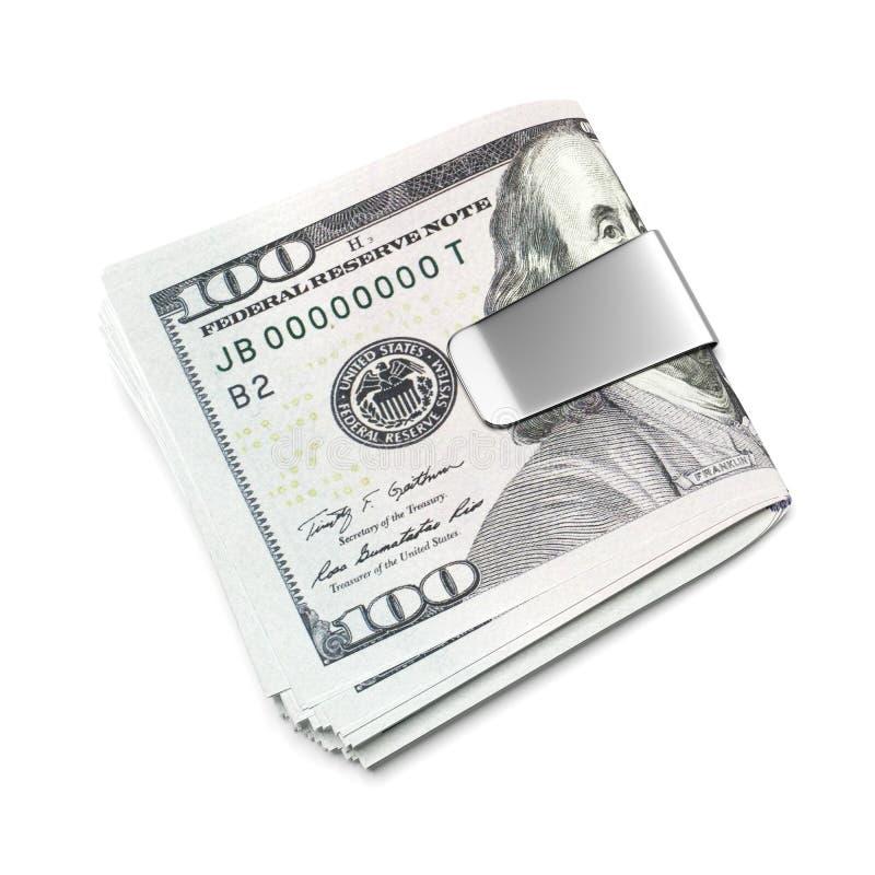 Δολάρια στο συνδετήρα χρημάτων ελεύθερη απεικόνιση δικαιώματος