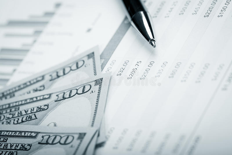 Δολάριο και σχέδιο δανείου στοκ εικόνες