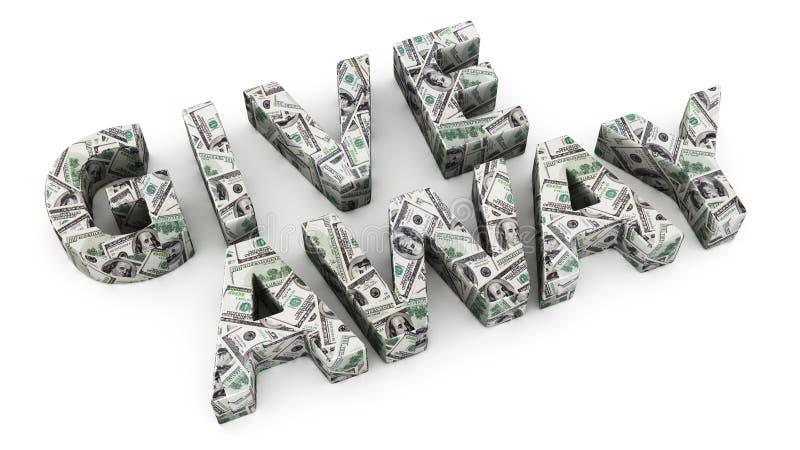 Δολάριο Giveaway διανυσματική απεικόνιση