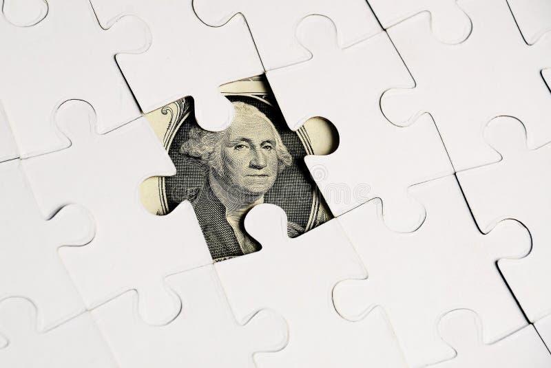 Δολάριο puzzel στοκ εικόνες