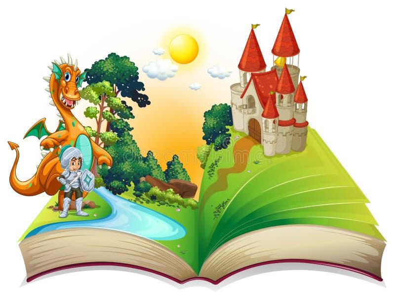 Δράκος και βιβλίο απεικόνιση αποθεμάτων
