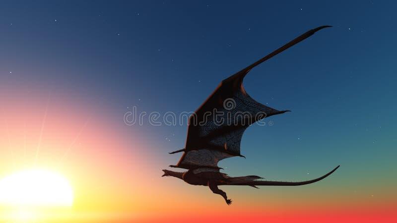 Δράκος διανυσματική απεικόνιση