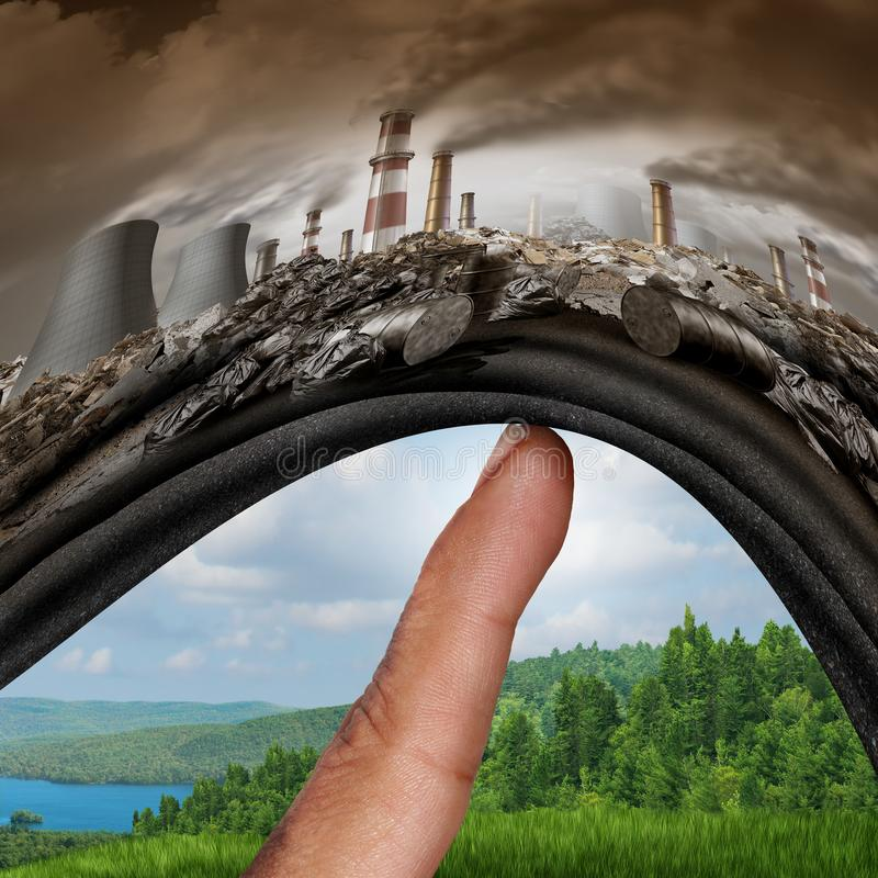 Δράση κλιματικής αλλαγής διανυσματική απεικόνιση