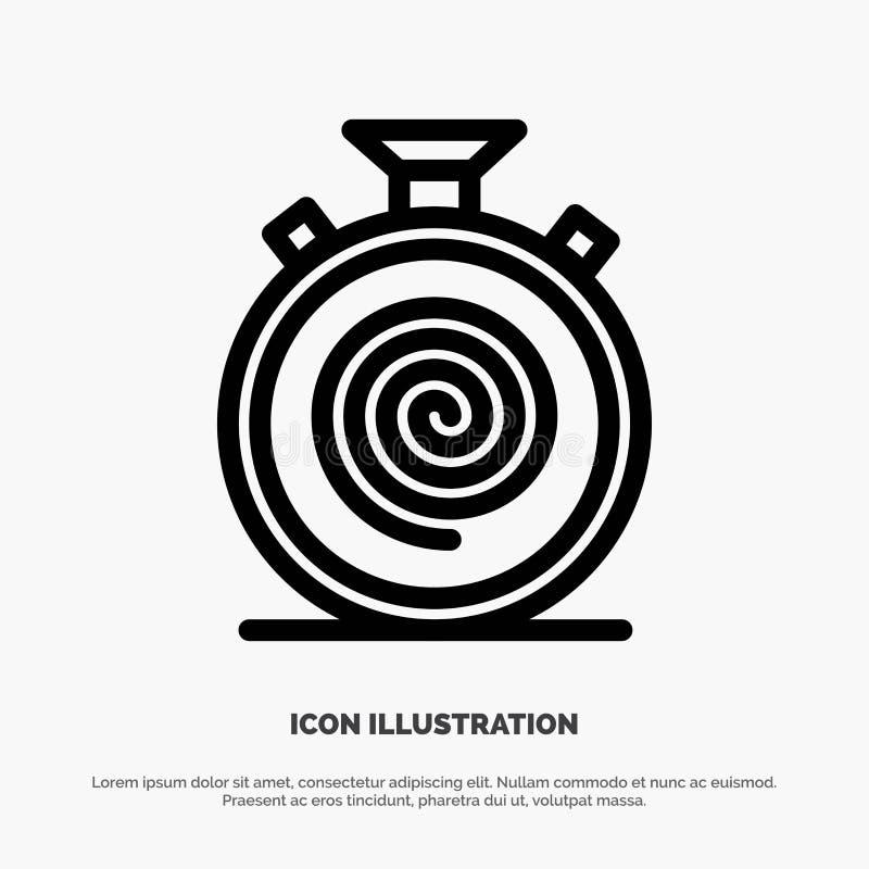Δράση, κύκλος, ροή, απευθείας, αργό διάνυσμα εικονιδίων γραμμών διανυσματική απεικόνιση