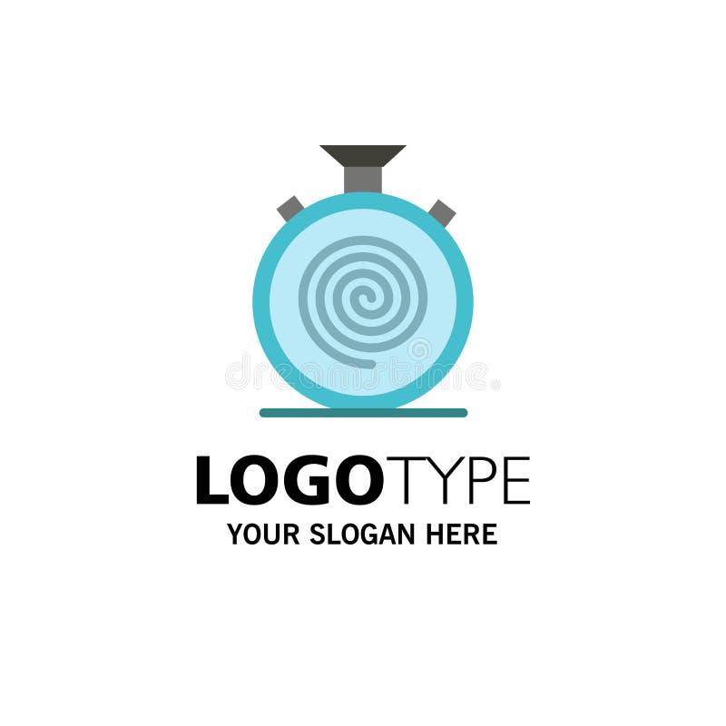 Δράση, κύκλος, ροή, απευθείας, αργό πρότυπο επιχειρησιακών λογότυπων Επίπεδο χρώμα διανυσματική απεικόνιση