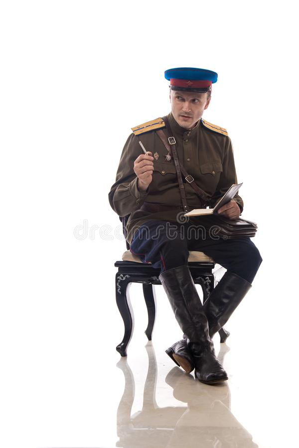 Δράστης ατόμων υπό μορφή ανώτερου υπαλλήλου αστυνομική υπηρεσία καπετάνιου άνθρωποι ` s των εσωτερικών θεμάτων της Ρωσίας από την στοκ εικόνα με δικαίωμα ελεύθερης χρήσης