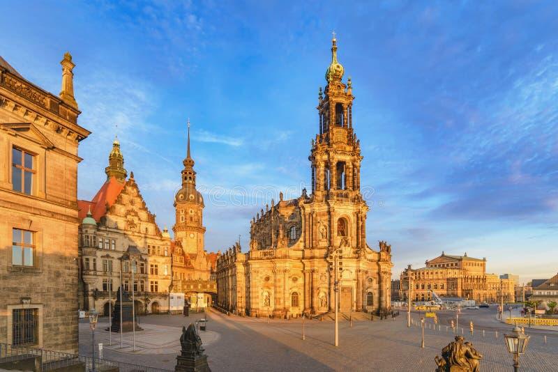 Δρέσδη Γερμανία στον καθεδρικό ναό της Δρέσδης στοκ φωτογραφίες
