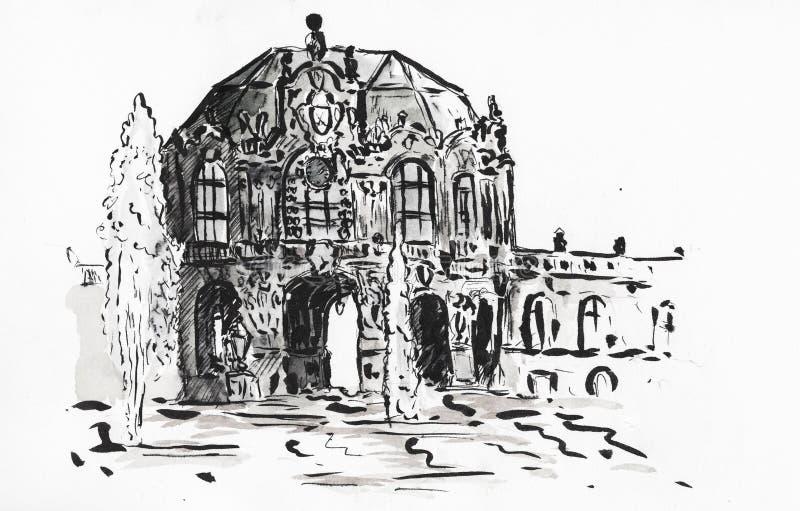 Δρέσδη, μουσείο Zwinger απεικόνιση αποθεμάτων