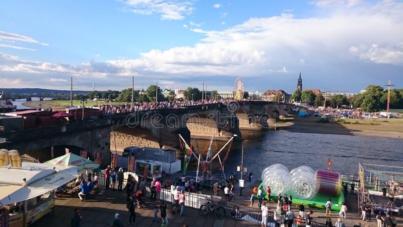 Δρέσδη-πόλη-φεστιβάλ στοκ εικόνα με δικαίωμα ελεύθερης χρήσης